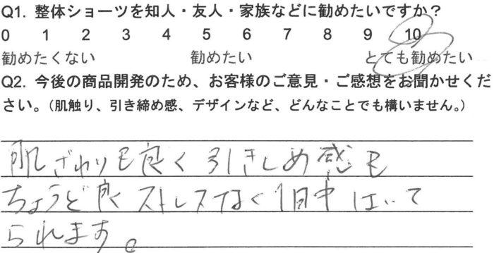 I.Rさま(30代)整体ショーツNEO口コミ