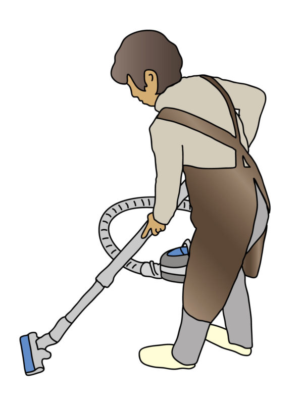 掃除などの前傾作業