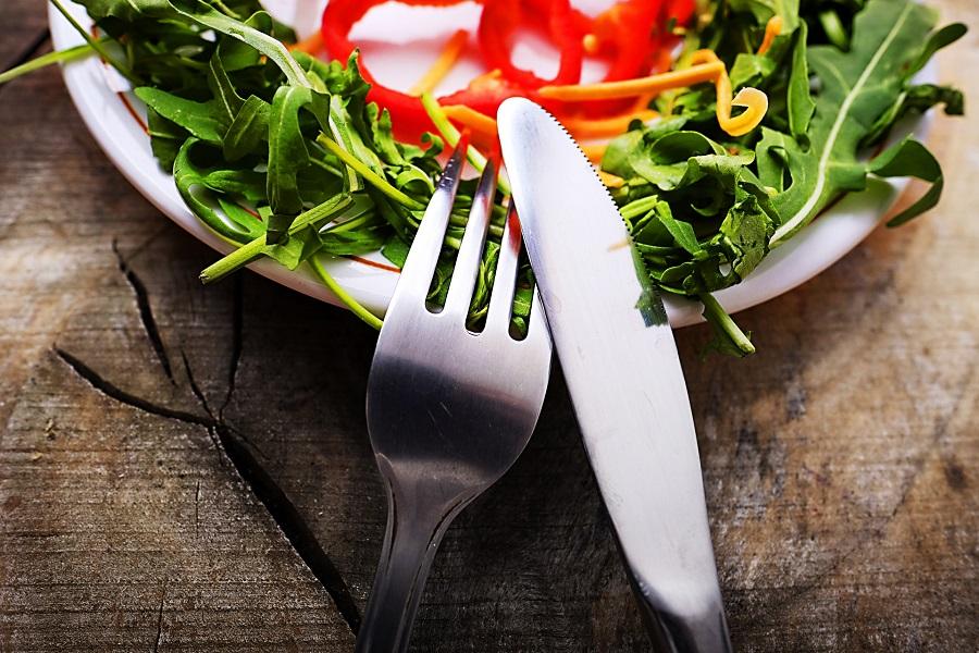 野菜のある食事